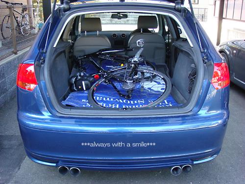 自転車の 自転車 前輪 異音 カラカラ : A3sportbackに放り込んでみました ...